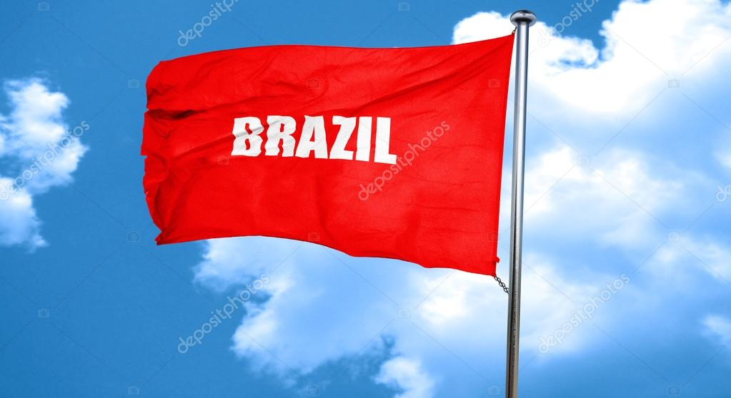 Greetings from brazil 3d rendering a red waving flag stock photo greetings from brazil 3d rendering a red waving flag stock photo m4hsunfo
