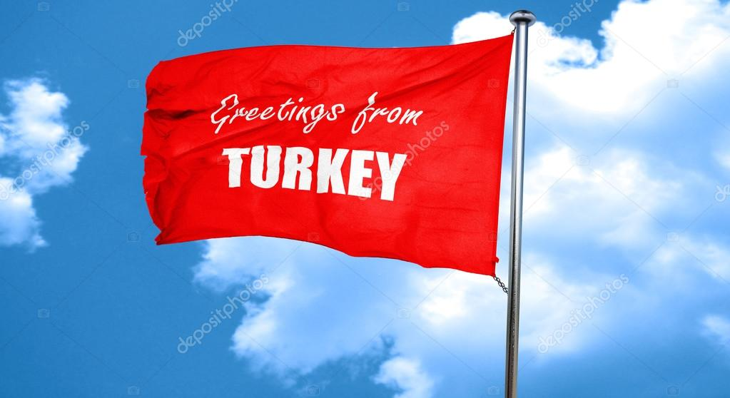 Greetings from turkey 3d rendering a red waving flag stock photo greetings from turkey 3d rendering a red waving flag stock photo m4hsunfo