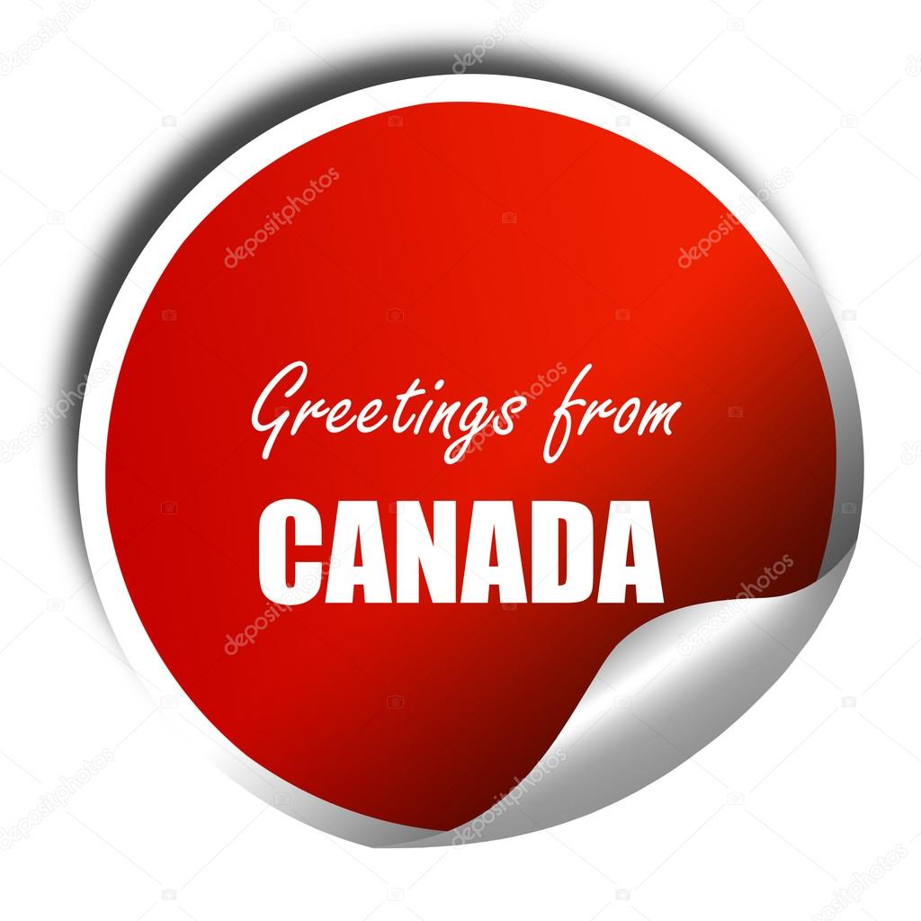 Greetings from canada 3d rendering red sticker with white text greetings from canada 3d rendering red sticker with white text stock photo m4hsunfo