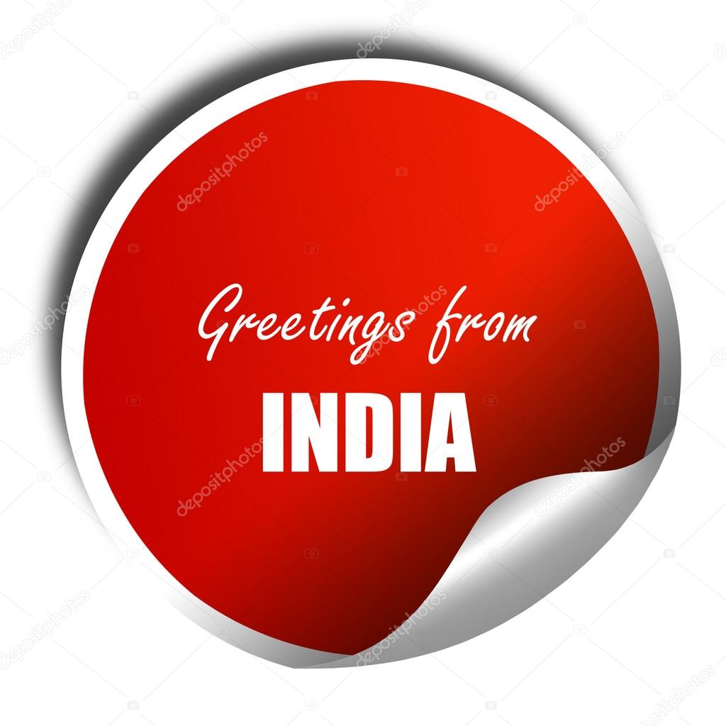 Greetings from india 3d rendering red sticker with white text greetings from india 3d rendering red sticker with white text stock photo kristyandbryce Choice Image