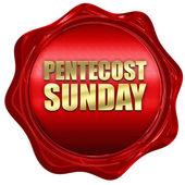 Svatodušní neděle, 3d vykreslování, červenou voskovou pečetí