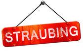 Fotografie Straubing, 3D-Rendering, ein rotes Schild hängen