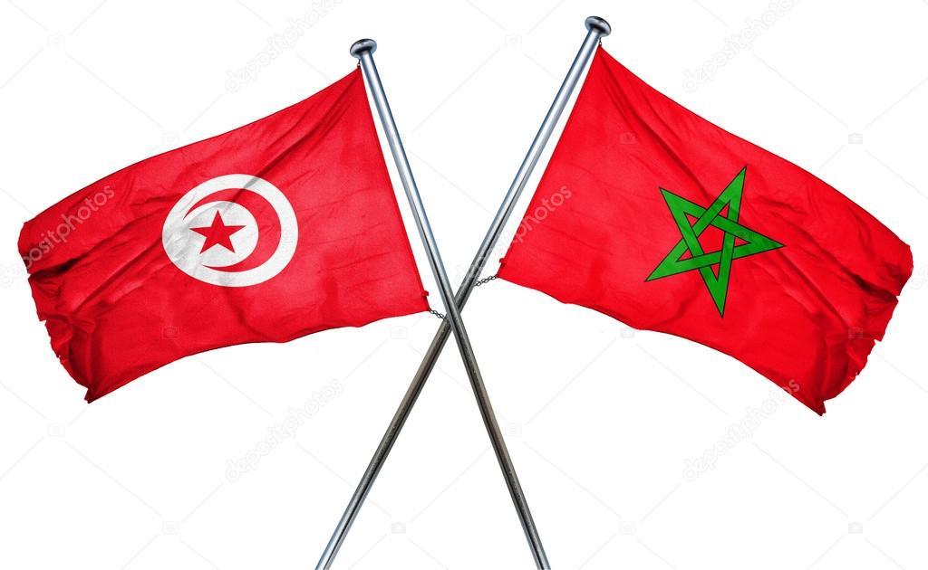 Resultado de imagen para Marruecos y Tuñez banderas
