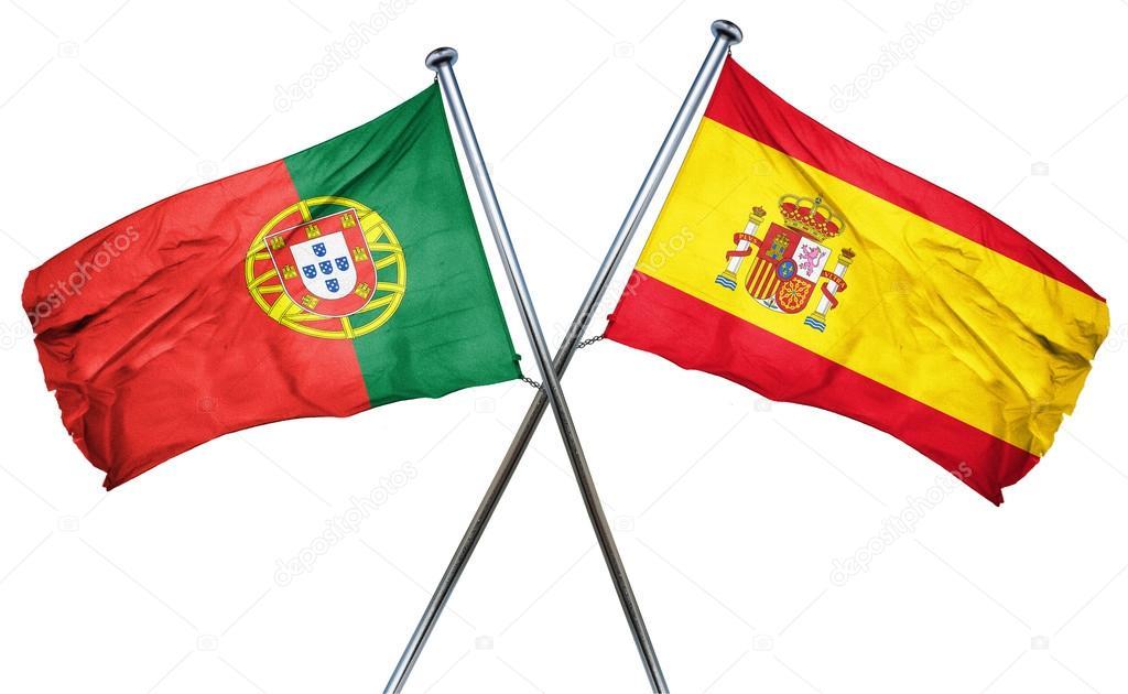 Bandeira de Portugal com a bandeira da Espanha 25359f6bce7f2