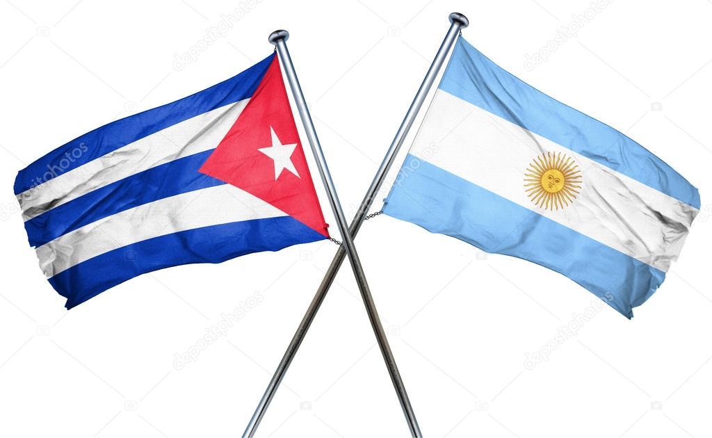 Cuba flag with Argentina flag ff87bc1a24c