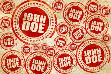 John doe, red stamp on a grunge paper texture
