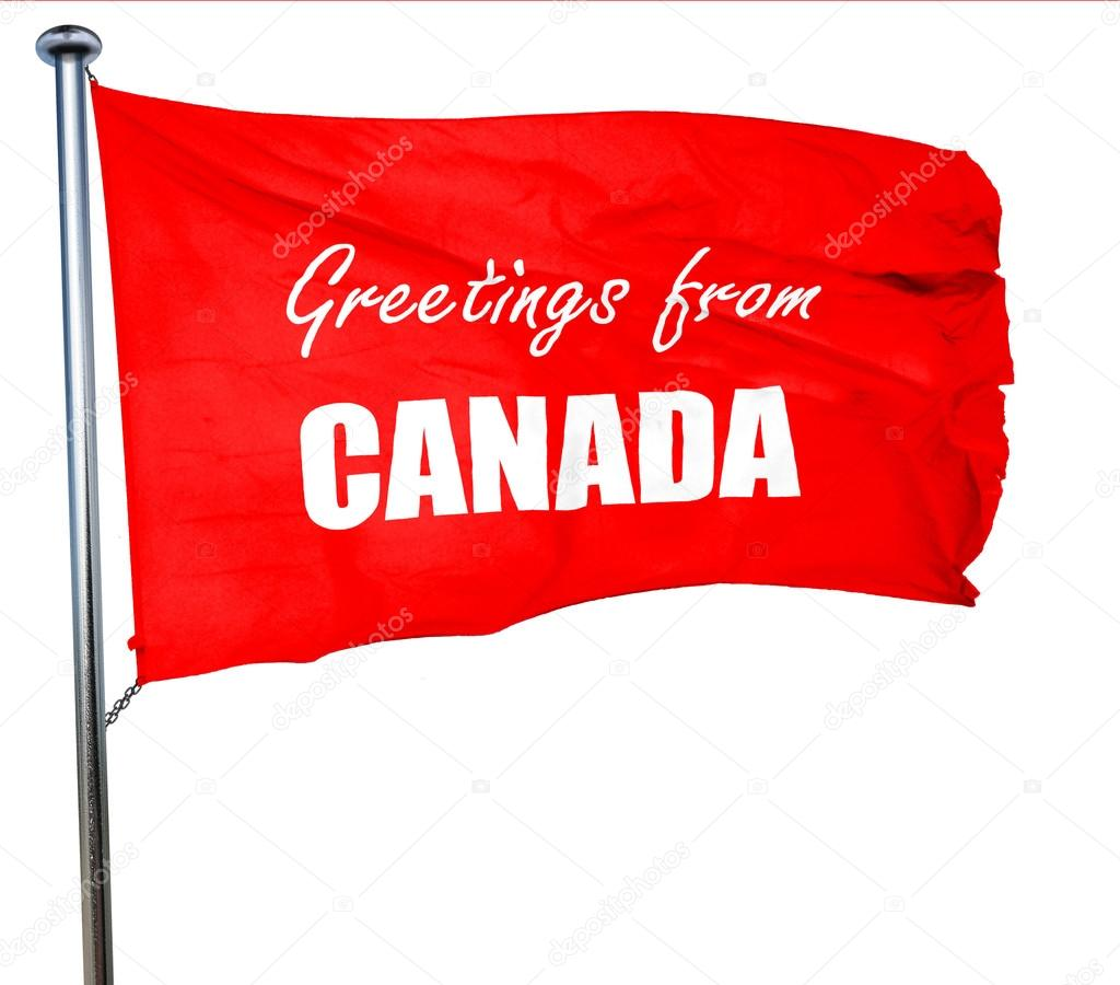 Greetings from canada 3d rendering a red waving flag stock photo greetings from canada 3d rendering a red waving flag stock photo m4hsunfo