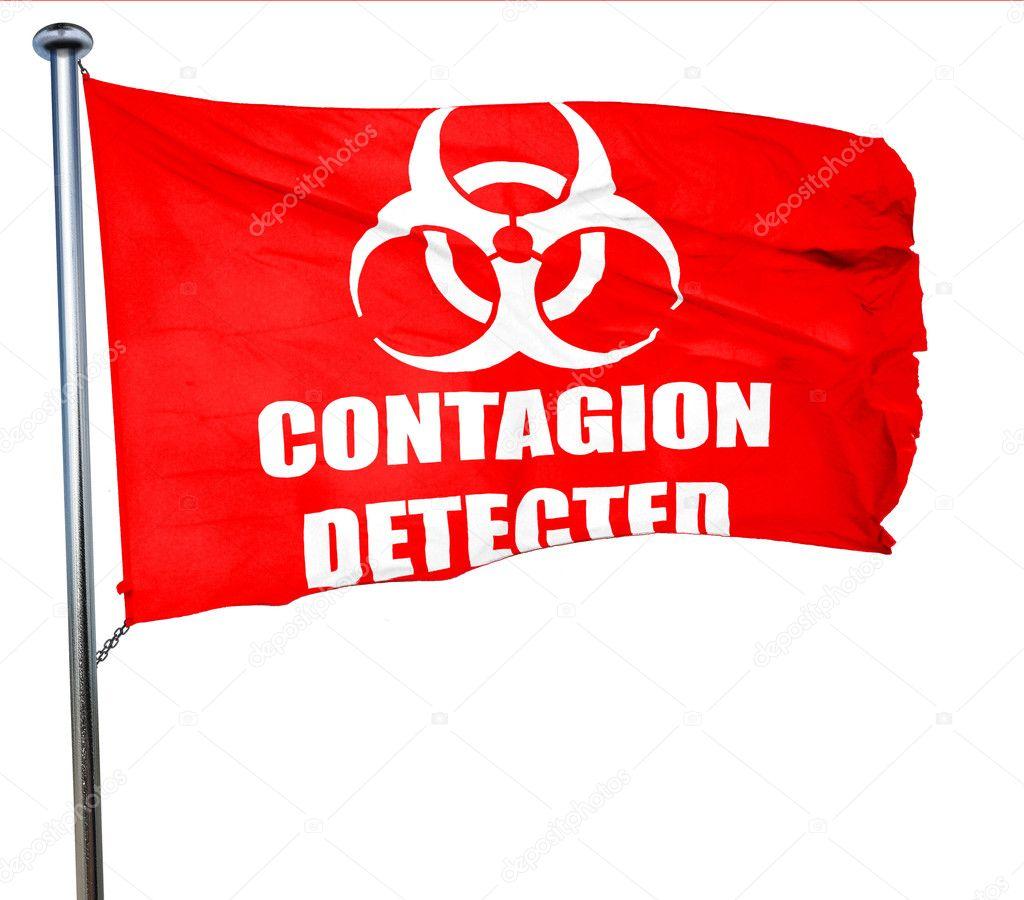 Contagion Concept Background 3d Rendering A Red Waving Flag Stock Photo C Ellandar 112536502