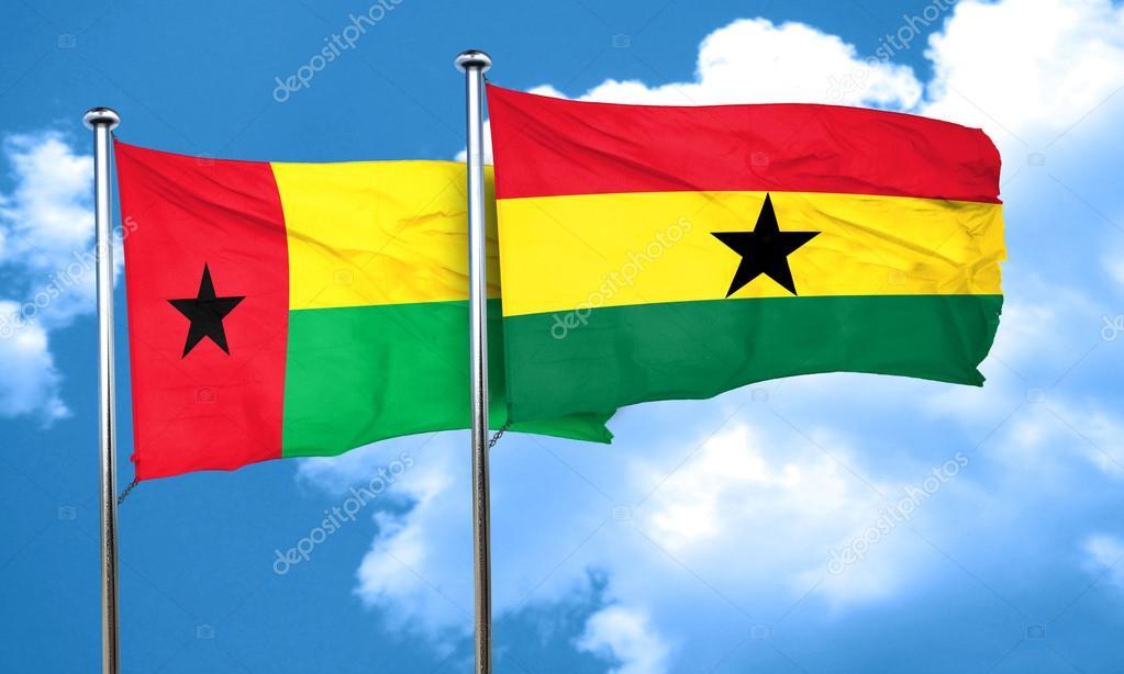 ガーナの旗、3 d レンダリングと...