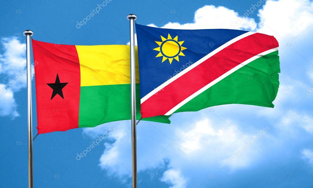ナミビアの国旗、3 d レンダリン...