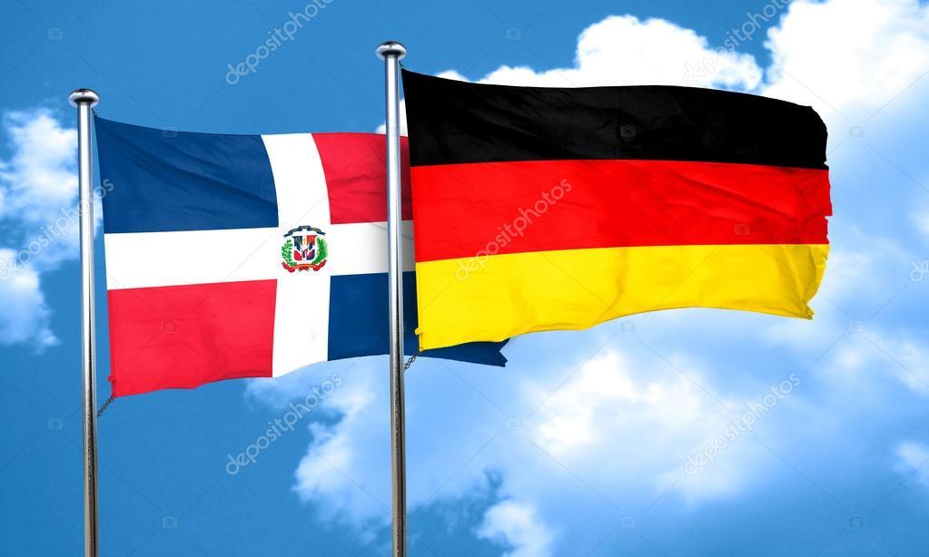 Bandera De República Dominicana Con La Bandera De
