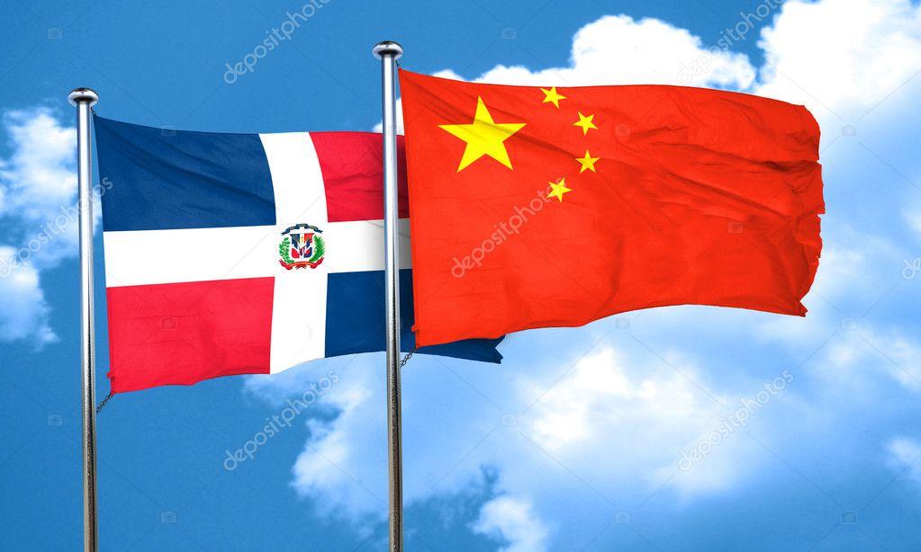 Image result for Banderas dominicana y de china