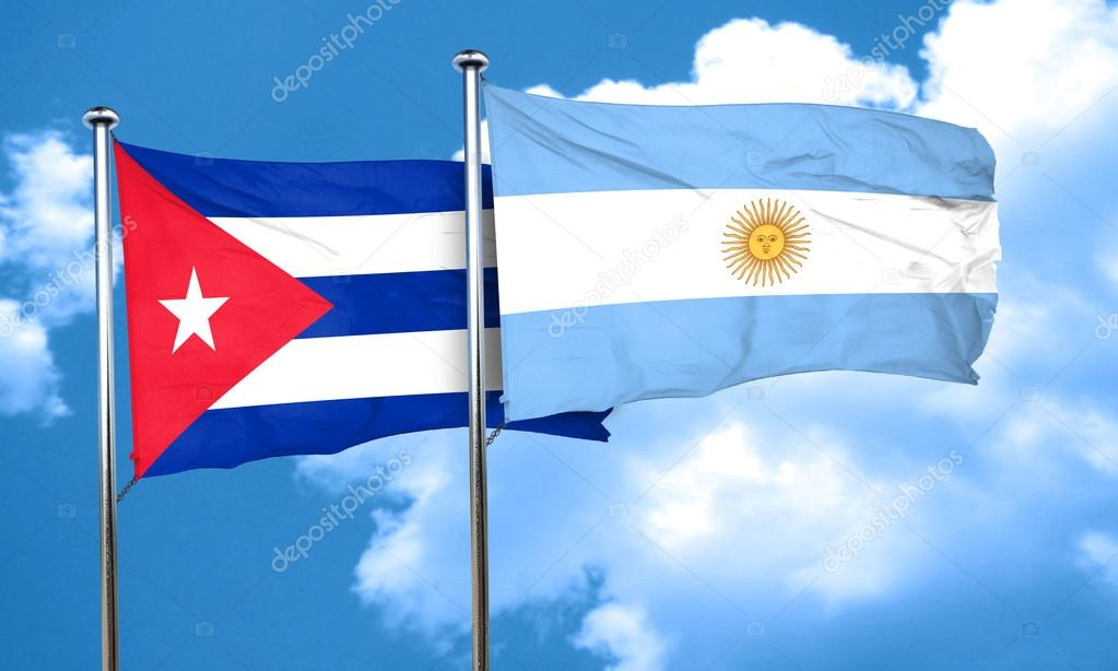 Bandera de Cuba con la bandera Argentina 58289cd6db0