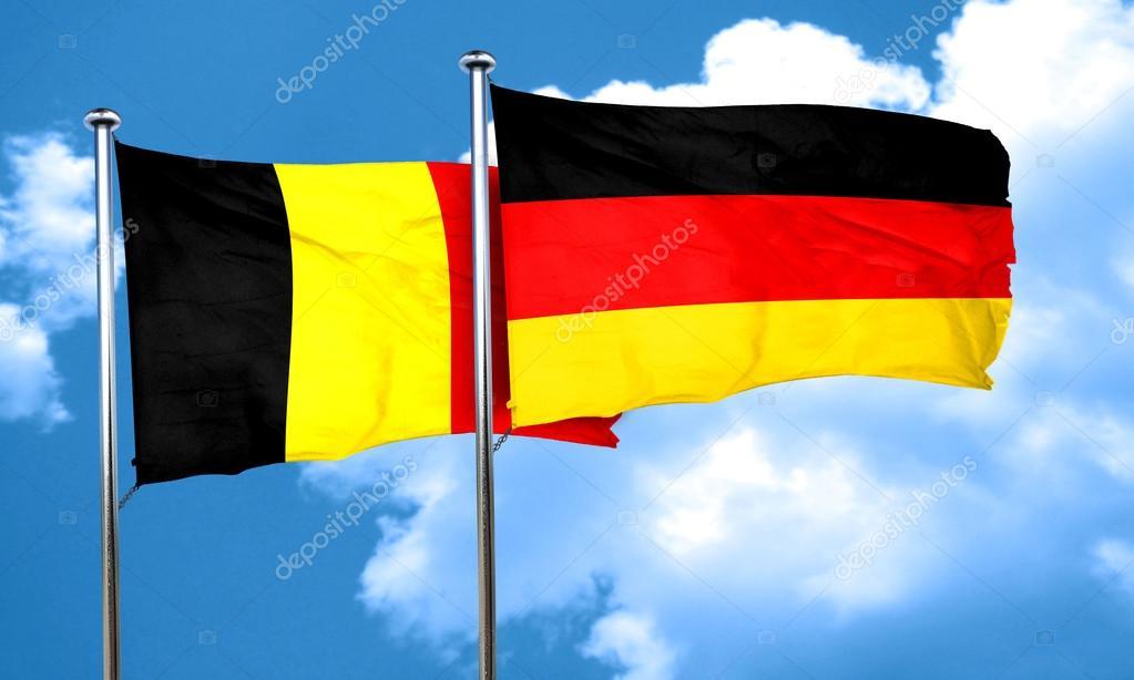 bandeira da belgica e alemanha
