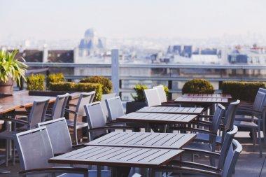 Open terrace rooftop cafe