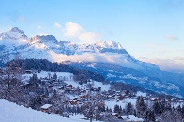 Panoramic view of Combloux village