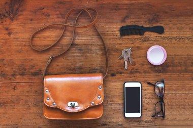 Stuff of woman bag