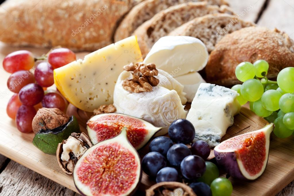 Cheese and fruits