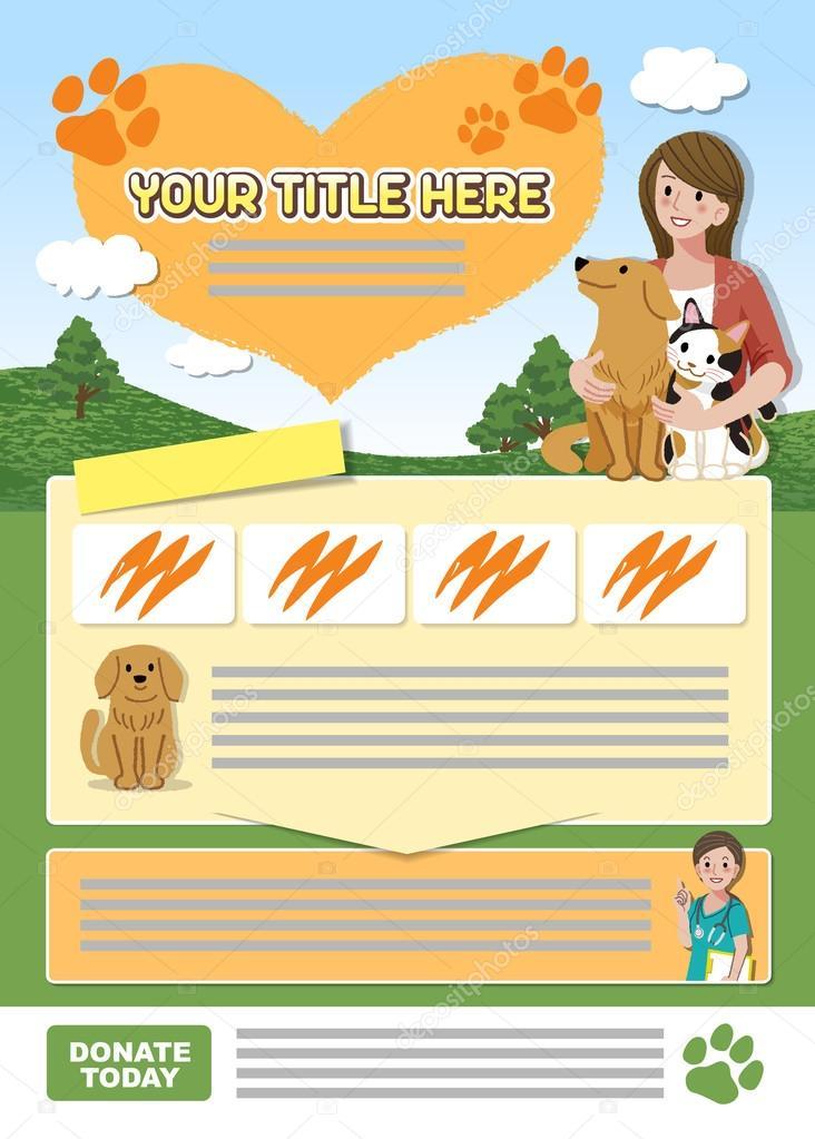 Animal leaflet design template