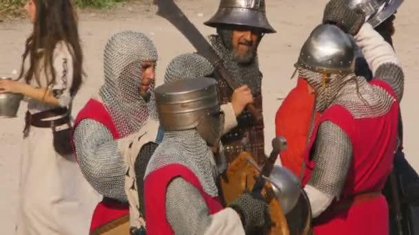 középkori hadsereg közelről