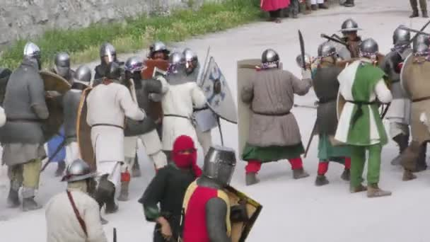 medieval army close up
