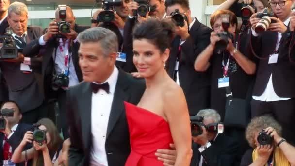 Schwerkraft Bullock Clooney Cuaron Venedig Roter Teppich