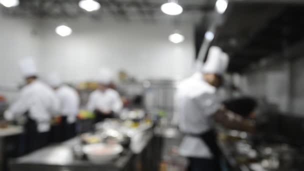 pohybu šéfkuchaři restaurace kuchyně