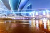 a könnyű pályák a modern épület háttérképet shanghai c