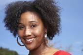 Fényképek Afrikai nő, mosolygós