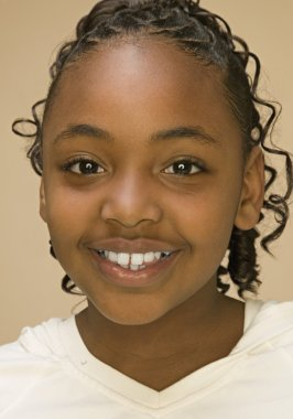 African American girl smiling