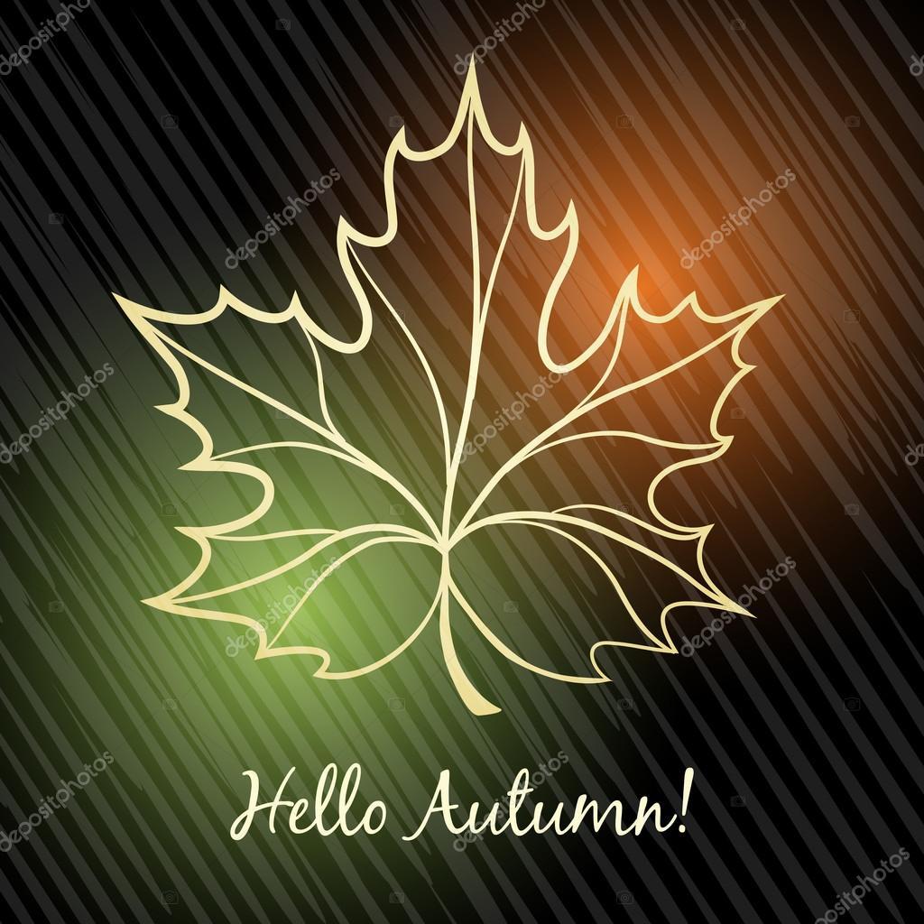 Autumn Theme with maple leaf