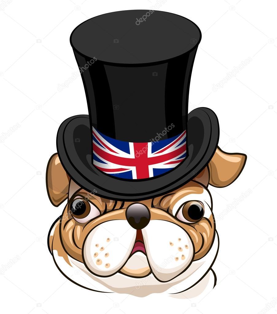 Emblema Do Bulldog Inglês Vetor De Stock Gertot1967 87111928
