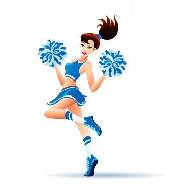 Dancing Cheerleader Girl