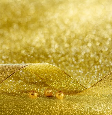 Gold background decorating Christmas