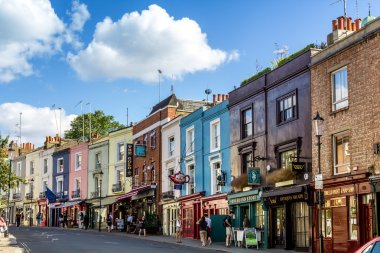 Portobello road,  famous market in London