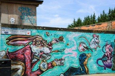 Graffiti illustration for Alice in Wonderland