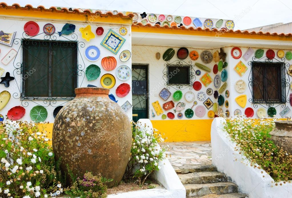 ALGARVE, PORTUGAL - MAY 3, 2015: Traditional colorful