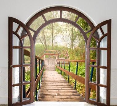 open door ladder