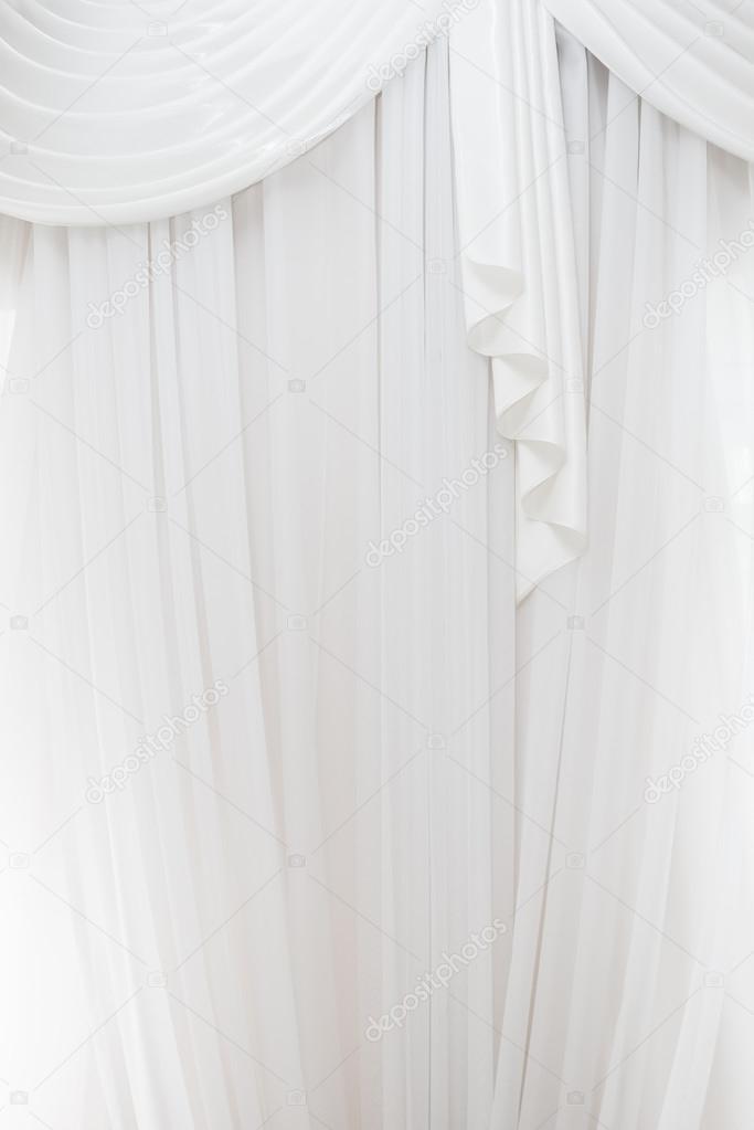 dichte textiel gordijn achtergrond met plooien foto van db rus