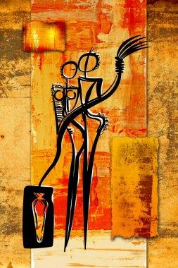 A very nice abstract color design art. A fie art artwork. stock vector