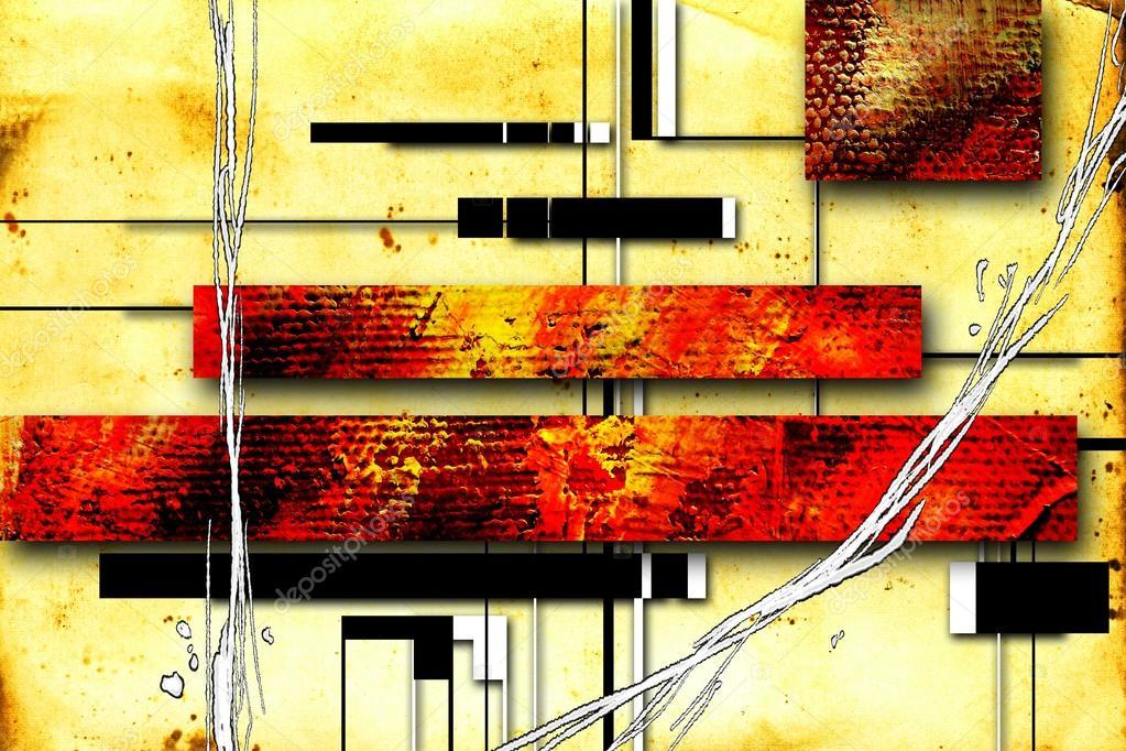 Abstract olieverf schilderij illustratie u stockfoto maxtor