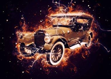 Eski klasik araba antika