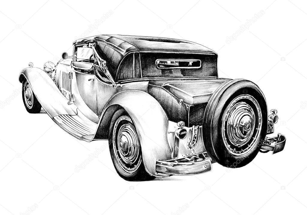 Old classic car retro vintage — Stock Photo © maxtor7777 #57024017