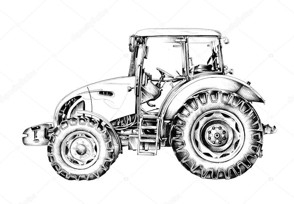 ci u0105gnika rolniczego ilustracji sztuki rysunku  u2014 zdj u0119cie