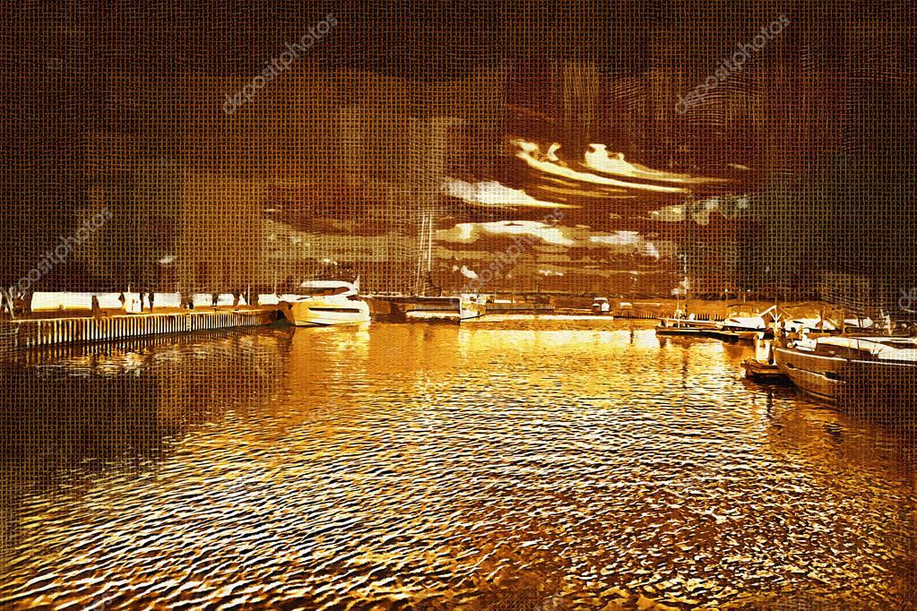 Deniz Ve Deniz Araçları Boyama Stok Foto Maxtor7777 77402756