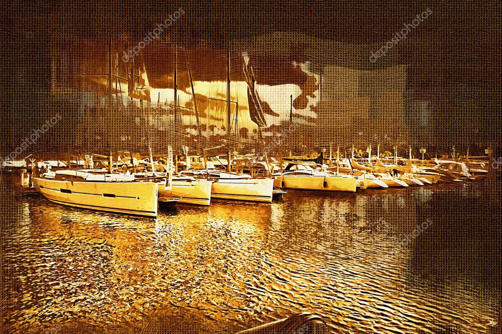 Deniz Ve Deniz Araçları Boyama Stok Foto Maxtor7777 77402772