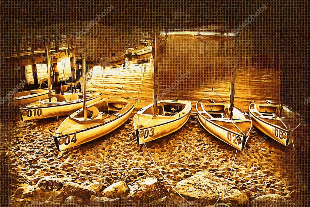 Deniz Ve Deniz Araçları Boyama Stok Foto Maxtor7777 77403122