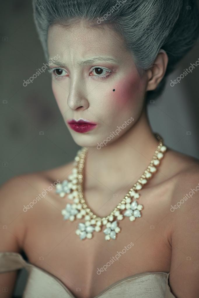 marquise de pompadour concept vintage emotive portrait of beaut stock photo 169 avgustino 72866055