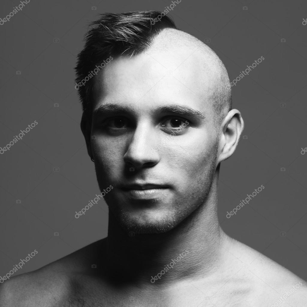 male model shaved head