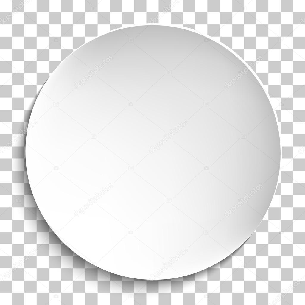 Empty White Paper Plate Vector Stock Vector 169 Newb1